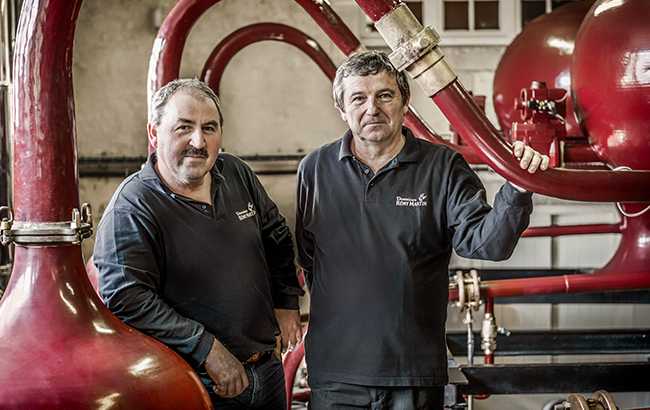 La distillerie Rémy Martin est à Touzac